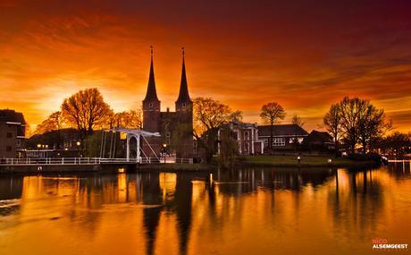 Sunset Oostpoort Delft