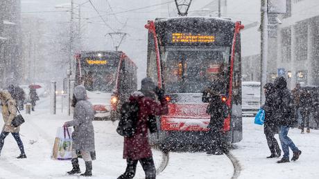 Sneeuwstorm in Den Haag