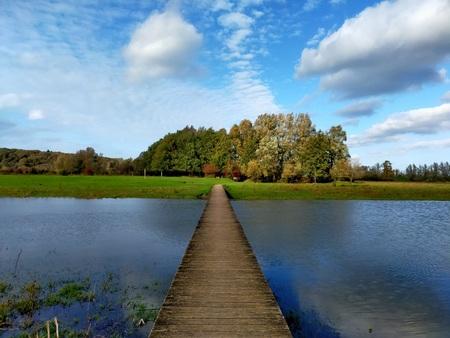 Landschap - Foto gemaakt in natuurgebied de Blauwe kamer Wageningen/Rhenen. - foto door Marcella7 op 27-02-2021 - deze foto bevat: lucht, wolken, water, natuur, spiegeling, landschap, bomen