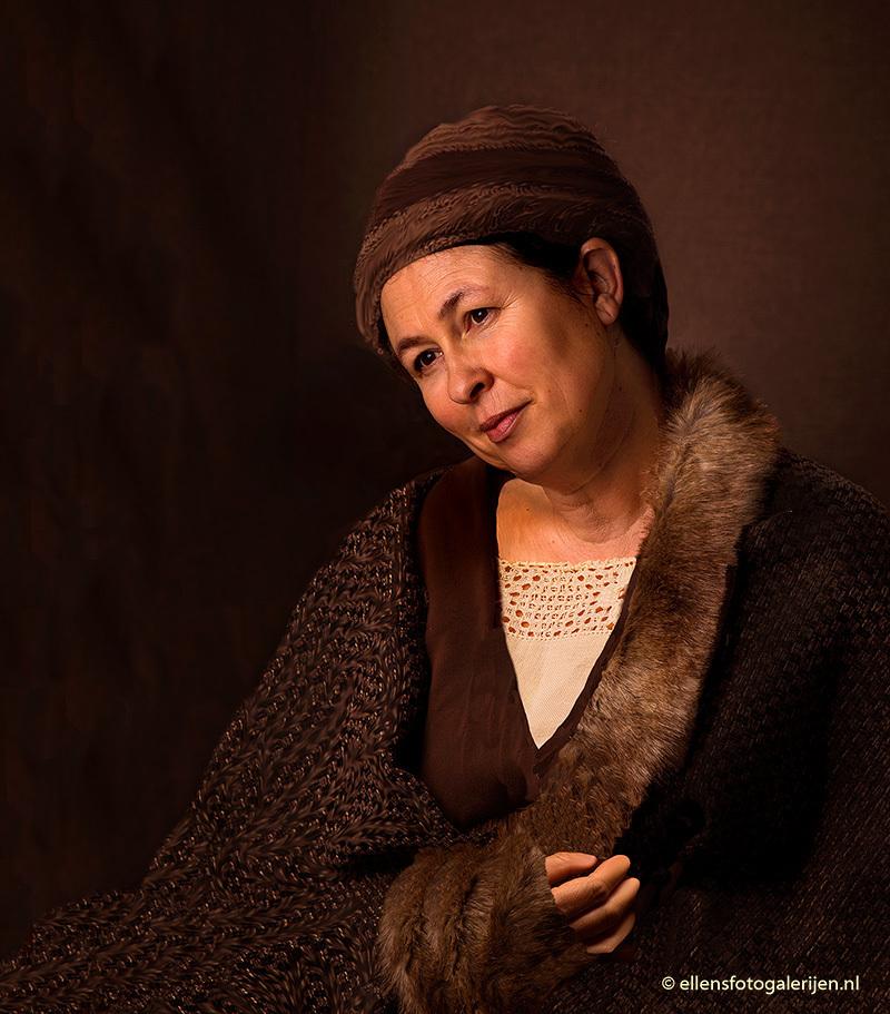 """Hendrickje Stoffels - Vijfde in mijn serie """"oude meesters"""" is Hendrickje Stoffels, Rembrandt - foto door ellen-zeist op 23-06-2015 - deze foto bevat: donker, emotie, closeup, oude meester"""