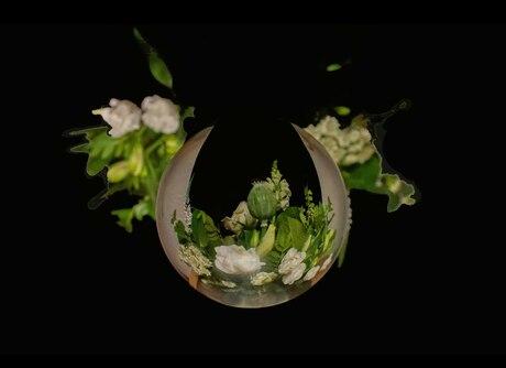 Bolfoto van Bloemenboeket