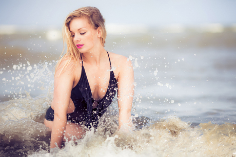 Sexy fotoshoot op het strand