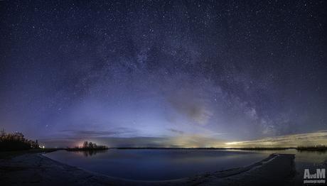 Het Lauwersmeer onder de sterren