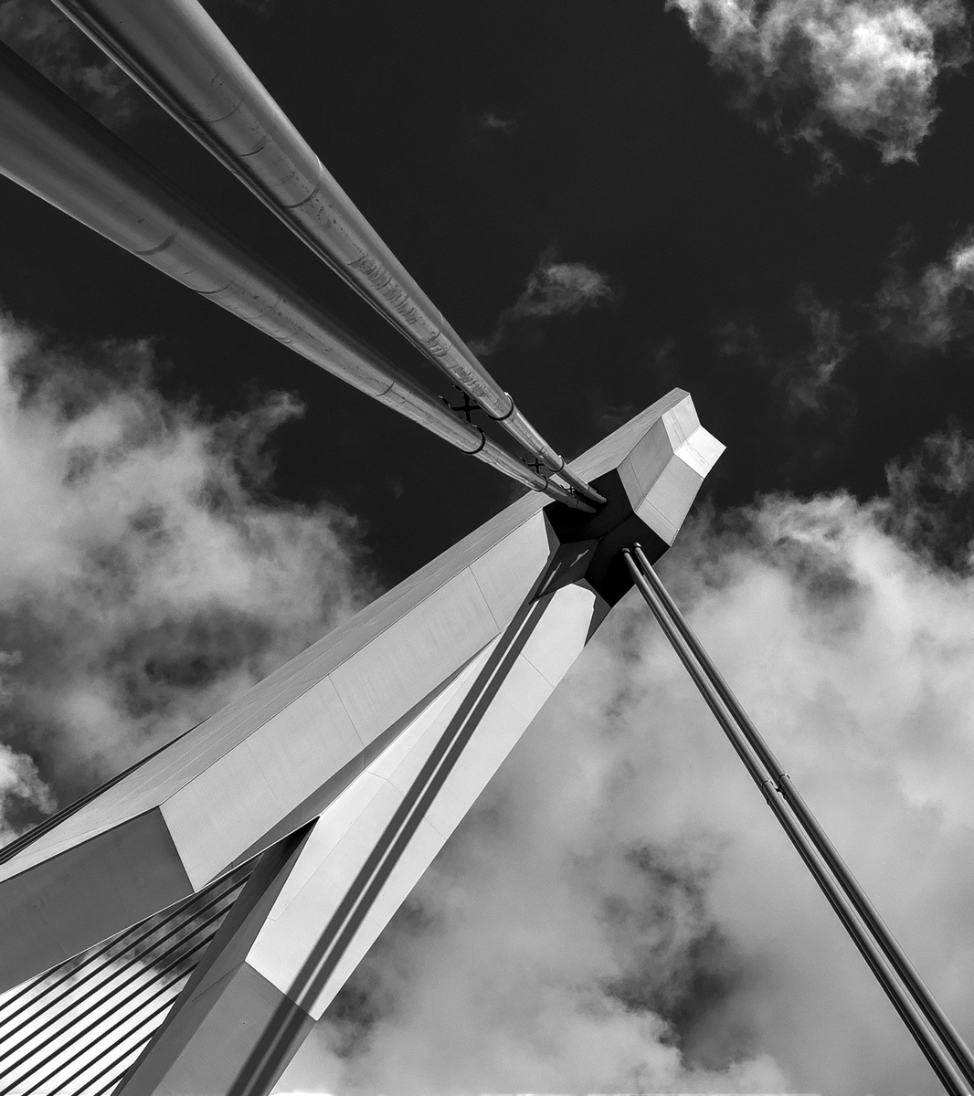 Rotterdam 39 - Hier kun je je wel op uitleven..... - foto door goosveenendaal op 11-03-2015 - deze foto bevat: rotterdam, brug, zwartwit