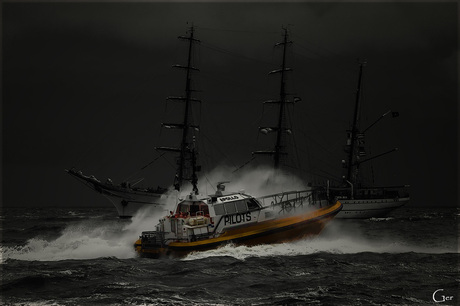 Nacht op zee