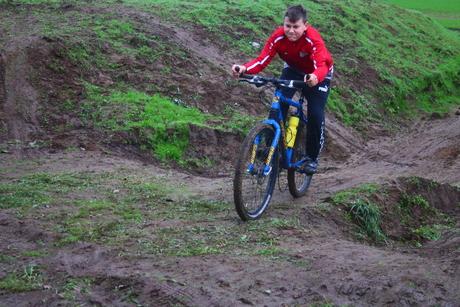 concentratie op de mountainbike