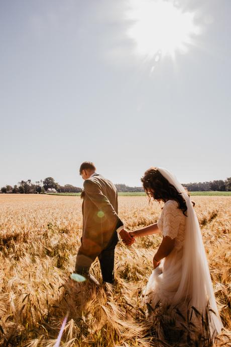 Fotoshoot graanveld