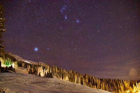 sterren in de sneeuw