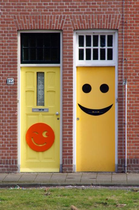 vrolijke deur