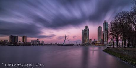 Dark clouds above Rotterdam