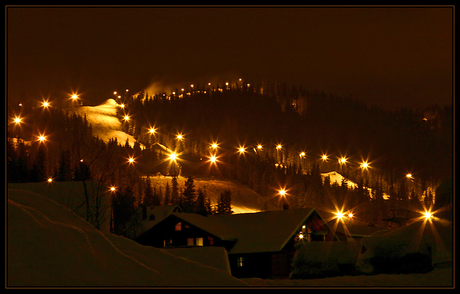 Skilift Trysil by night