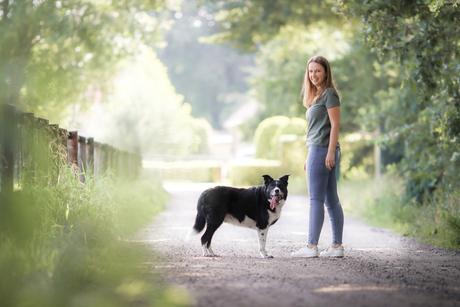 Mijn kleine zusje en haar ouwe trouwe hond Scotty