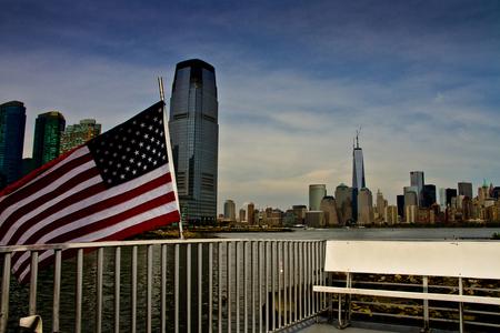 New York State of Mind - Hudson River & Manhattan vanaf de Jersey Ferry - foto door wimkok1 op 03-07-2013 - deze foto bevat: canon, hudson, usa, manhattan, jersey, New York, eos7d