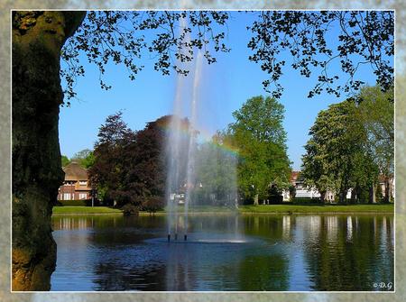 Wilhelminapark '08 - De grote fontein in het Wilhelminapark in Meppel. - foto door daniel44 op 24-11-2008 - deze foto bevat: water, natuur, fontein, meppel, daniel44, wilhelminapark
