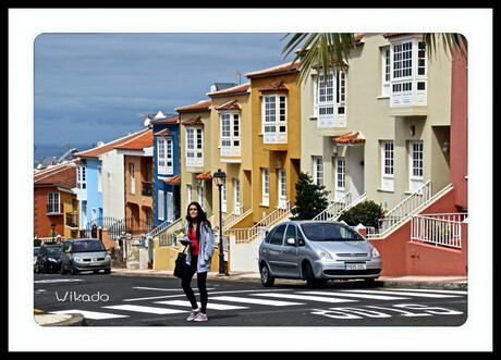 The girl on the crosswalk ...