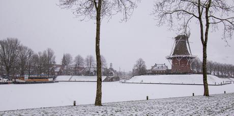 Dokkum in de sneeuw
