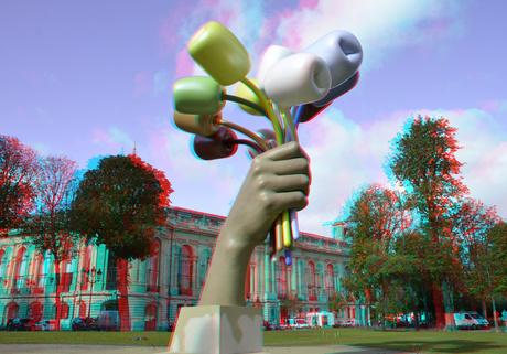 Bouquet of Tulips by Jeff Koons Paris 3D