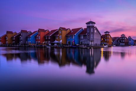 De kleuren van de zonsopkomst...