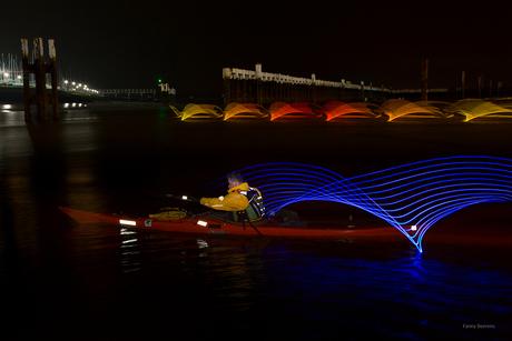 lightpainting kayak