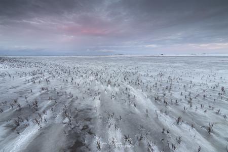 Poollandschap aan het Wad - Terwijl ik in eerste instantie in tegenovergestelde richting een fantastische zonsondergang aan het vastleggen was, zag ik terwijl ik even achterom k - foto door ArjanSijtsma op 01-03-2021 - deze foto bevat: roze, lucht, wolken, zon, strand, zee, water, natuur, licht, sneeuw, winter, avond, lijnen, zonsondergang, vakantie, ijs, landschap, avondlicht, storm, zand, nacht, kust, eb, wadden, waddenzee, polder, contrast, wad, diepte, slik, slijk, lichtinval, zeekraal, werelderfgoed, ijslandschap, poollandschap, lange sluitertijd, Sneeuwduinen, laag water