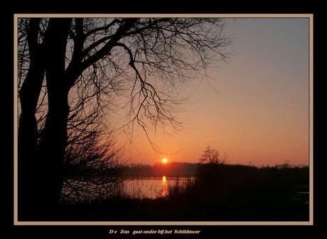 Zonsondergang bij het Schildmeer