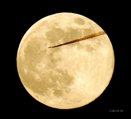 Flying to the moon 4
