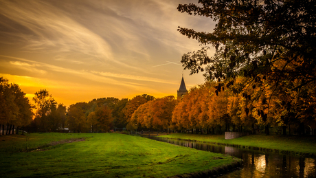 Herfst op de vesting van Monnickendam