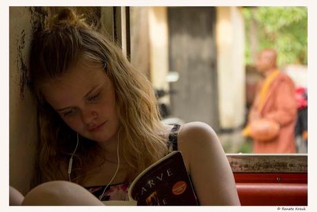 Girl on a train to Puttalam, Sri Lanka