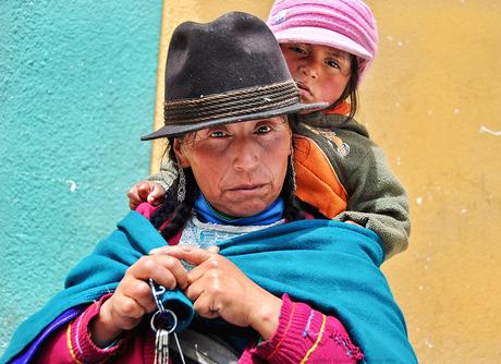 Moeder met kind Ecuador
