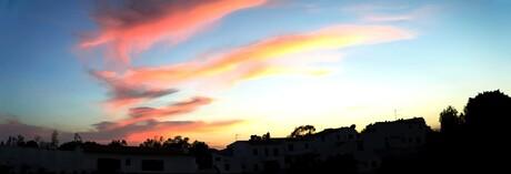 zonsondergang algarve, panorama