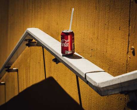 the abandoned Coca Cola can