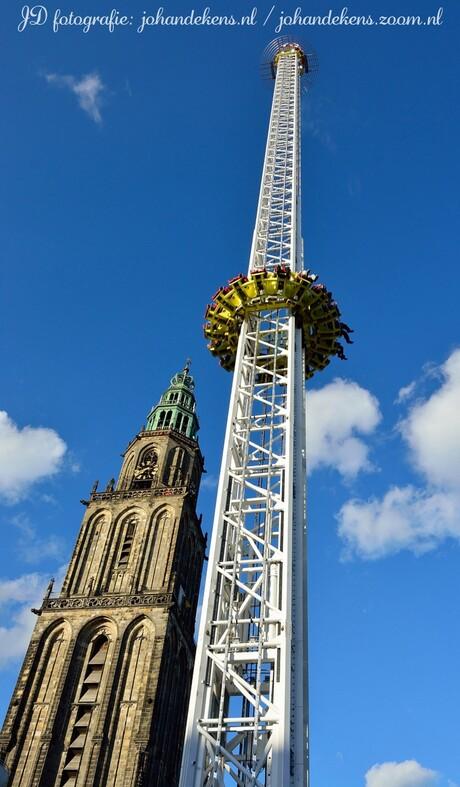 De Tower op de Meikermis in Groningen.