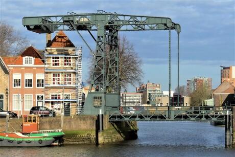 P1140197 Maassluis Binnenhaven Schansbrug 24 feb 2021