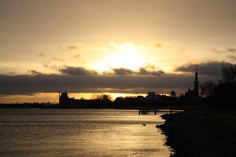zonsopkomst Veere (Zld)