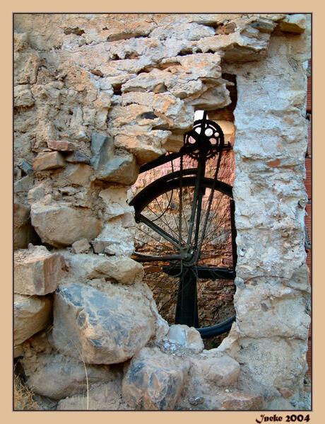 Antieke fiets op Sardinie