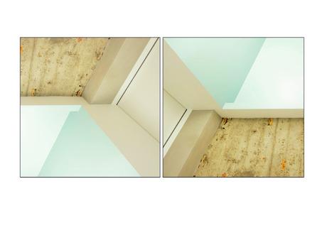 de hoek van het plafond