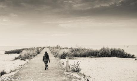 a girl at the beach...