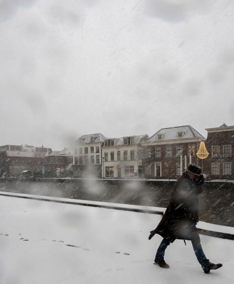 Man, hoed, sneeuw