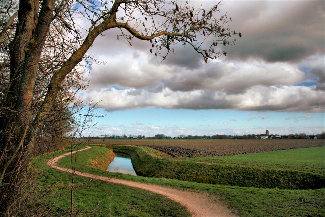 Luchten boven Loppersum - De luchten boven onze provincie zijn er altijd om van te genieten - foto door Teunis Haveman op 17-03-2021 - deze foto bevat: lucht, wolken, natuur, licht, landschap, bomen