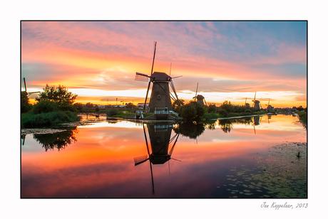 Sunset Kinderdijk
