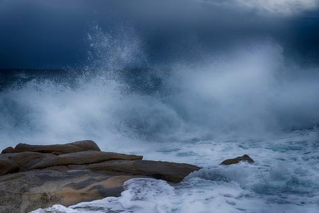 storm op zee in Italy
