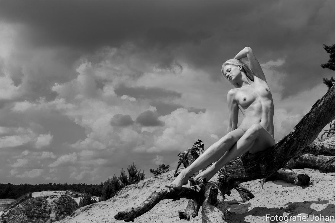 Aphrodite Goddes - Fine art nude met Anna die doet denken aan beelden uit de oudheid van Aphrodite - foto door oostindienjp op 29-11-2018 - deze foto bevat: wolken, zw, pose, bw, clouds, anna, klassiek, fotoshoot, aphrodite, outdoor