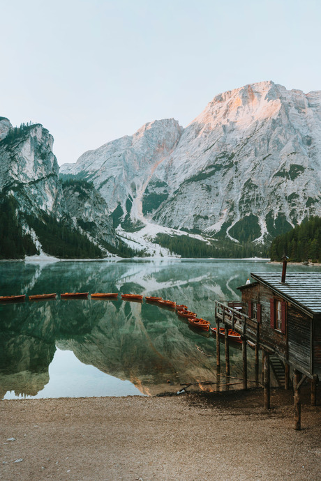 Postcard from the Dolomites.