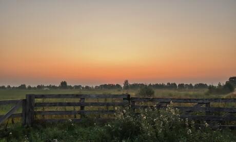 De gaast zonsopkomst
