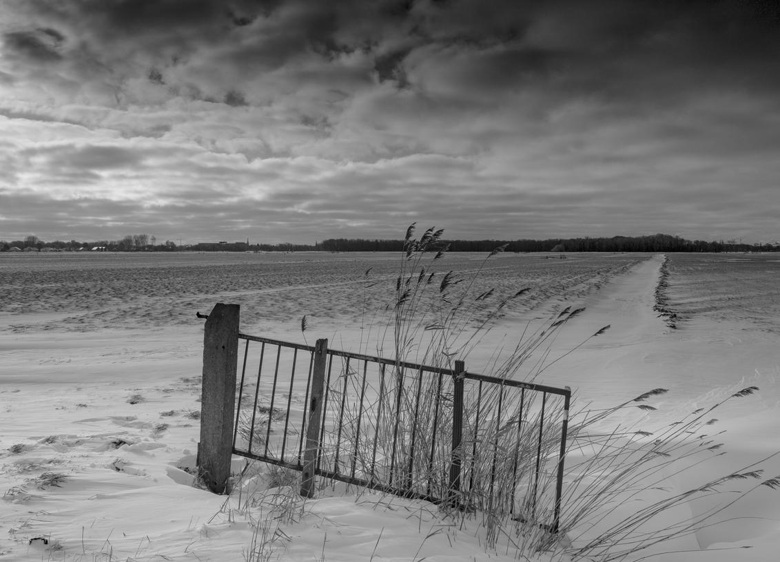Monochroom - - - foto door ralph-beijer-73 op 07-03-2021 - deze foto bevat: wolken, panorama, natuur, sneeuw, winter, landschap, duinen, polder