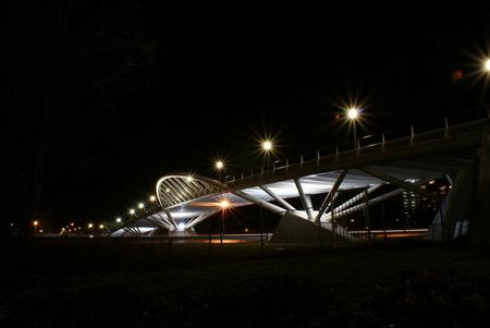Brug 6 - Hier wederom een mooie opname van de Vlinderbrug in Zaandam. De opname is onbewerkt dus standaard beter. - foto door maarten1971 op 18-01-2009 - deze foto bevat: de, do, vlinder, brug, sony, alpha, zaandam, zaanstad, vlinderbrug