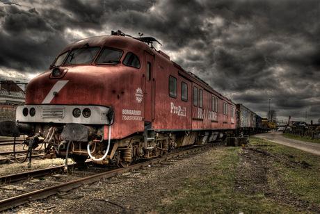 Oude rode trein