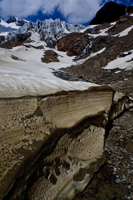 Oude sneeuw Vent Oostenrijk