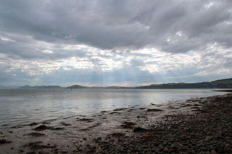 Zonnestralen in Schotland
