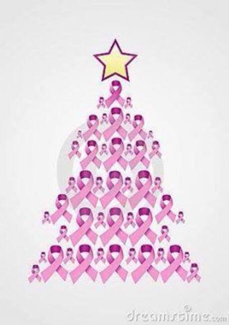 kerstmis pink ribbon